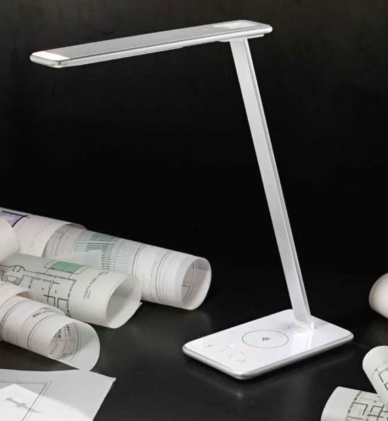 Perenz Lampada da tavolo color bianco con caricatore wireless