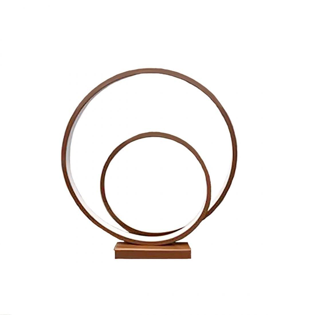Perenz Lampada da tavolo in metallo e alluminio verniciato colore cannella
