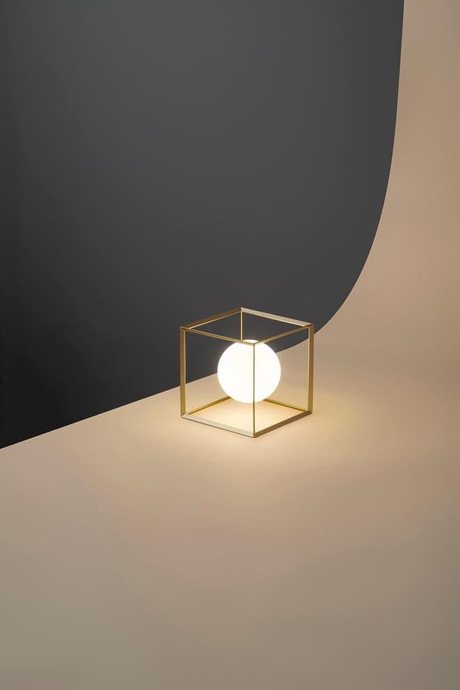 Perenz Lampada da tavolo in metallo verniciato oro