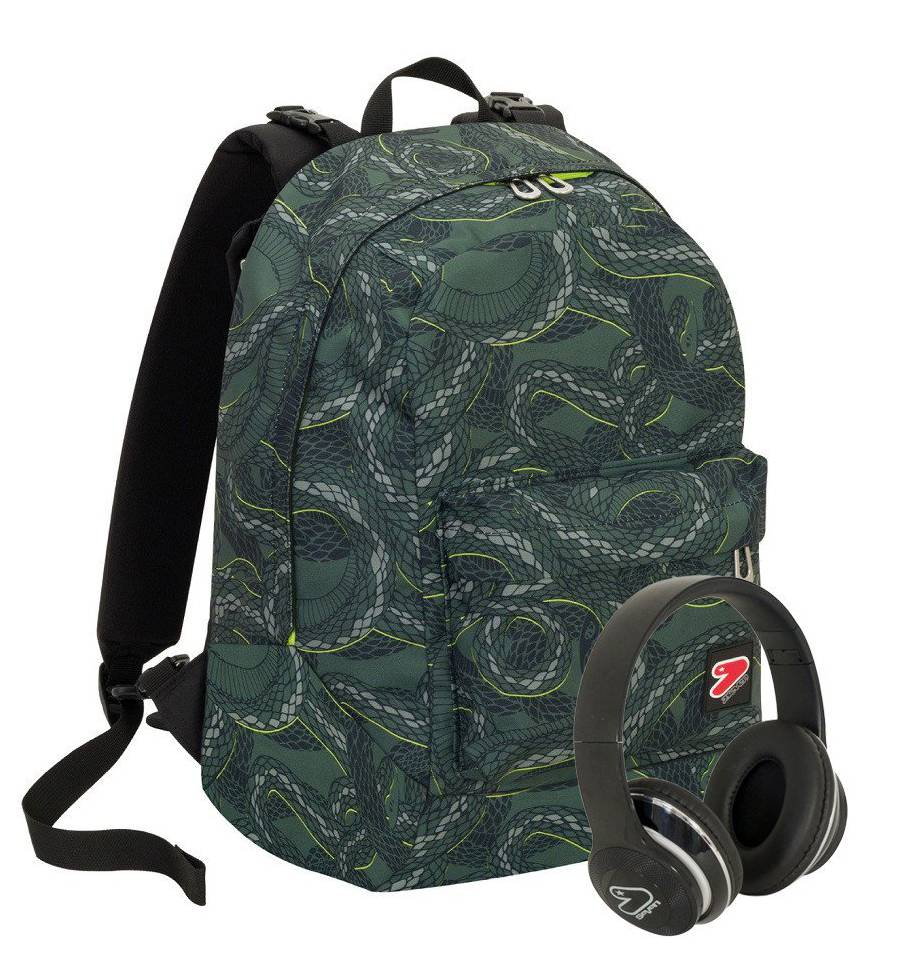 Seven Zaino scuola Reversibile Seven The Double Military Green