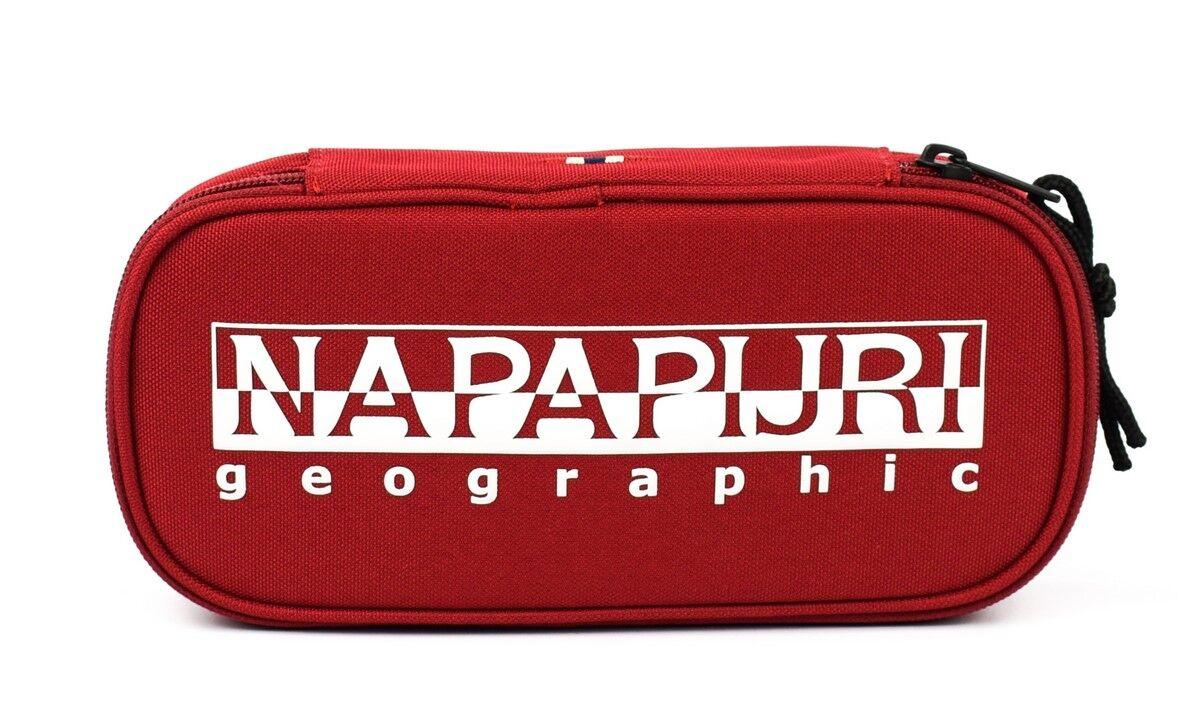 napapijri astuccio scuola napapijri happy pen organizer red scarlet