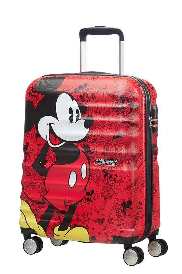 American Tourister Trolley cabina American Tourister Wavebreaker Disney Mickey Comics red