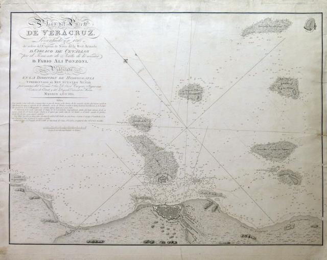 ART Plano del Puerto de Vera Cruz. Levantado en 1807 de orden del Capitan de Navio de la Real Armada D. Cirlaco De Cevallos por el Teniente de Navio de l