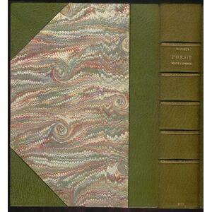 Poesie edite e inedite. Prima edizione completa con frammenti, varianti, glossario e due indici, di cui uno dei capoversi, con l'indicazione delle st