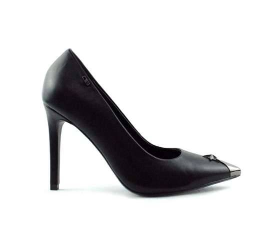 06 milano décolleté a punta  nero tacco 10 cm scarpe donna art. de0208