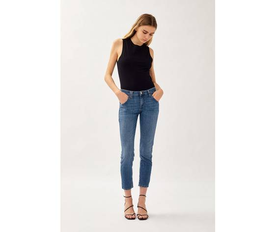 Roy Roger's Jeans Donna Roy Roger'S Elionor Noosa In Denim Super Stretch Lavaggio Medio Art. P21rnd010d3641745