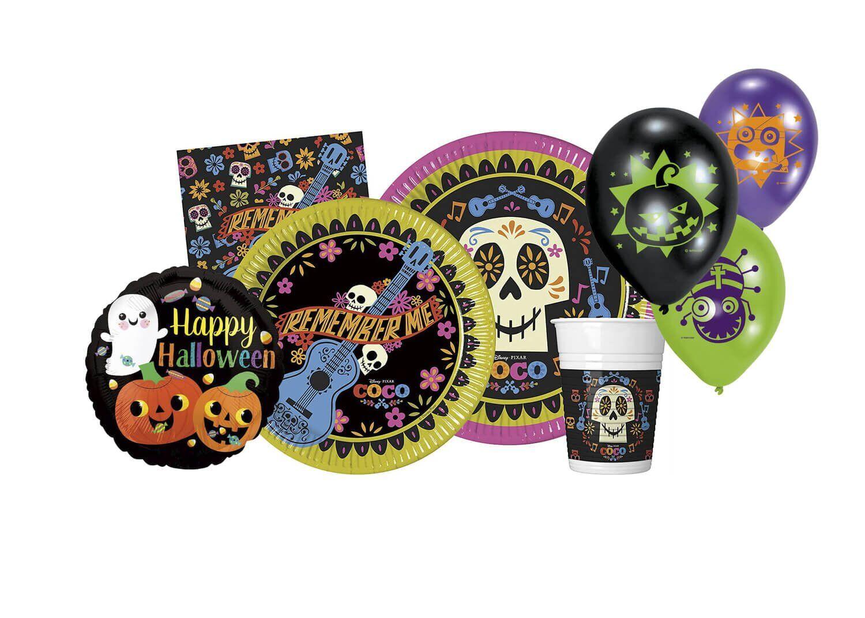 Set Party Halloween per Festa a Tema coordinato Coco Disney per 8 invitati