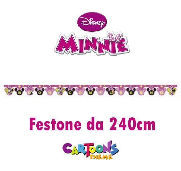 Festone Buon Compleanno Minnie 240 cm per Festa di Compleanno