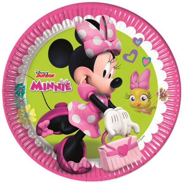 Piatti Grandi Minnie da 23 cm - Piatti per Festa di Minnie Happy Helpers