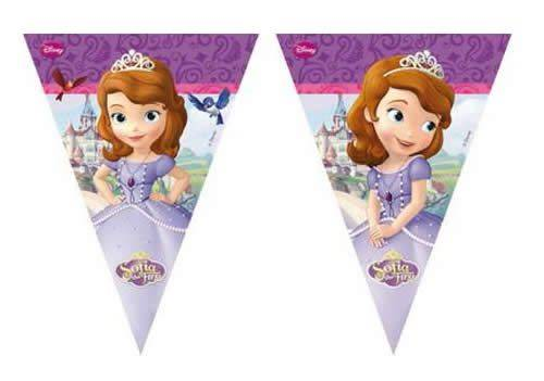 Bandierine Triangolari per Festa di Sofia Disney - Festone Bandierine Sofia - mod. Mystic