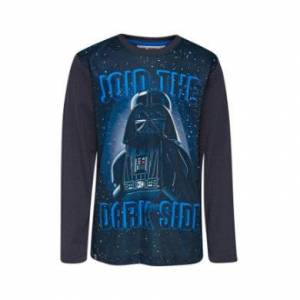 Lego wear Camicia a manica lunga LEGO Star Wars Darth Vader Grigio scuro Dark Grey