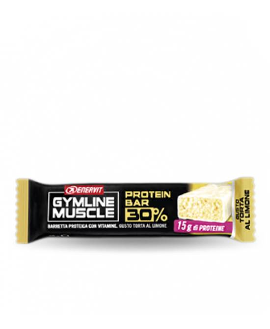 Enervit Gymline Muscle Protein Bar 30% Limone Barretta Proteica 48g