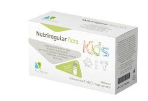 nutrileya srl nutriregular flora kids 10 flaconcini - probiotico bambino