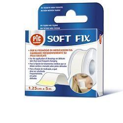Artsana Spa Cerotto In Rocchetto Pic Soft Fix Tessuto Non Tessuto 1,25x500 Cm Con Fustella