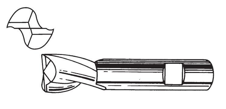 CM TOOLS Fresa 2 taglienti per cave art.56w mm. 8 CM TOOLS