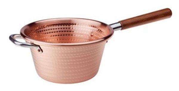 AGNELLI Paiolo rame m/legno cook cm.22 art.65m AGNELLI