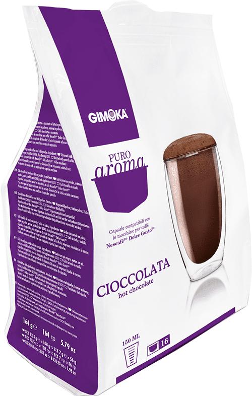 Gimoka 16 capsule Puro Aroma Cioccolata compatibili Dolce Gusto