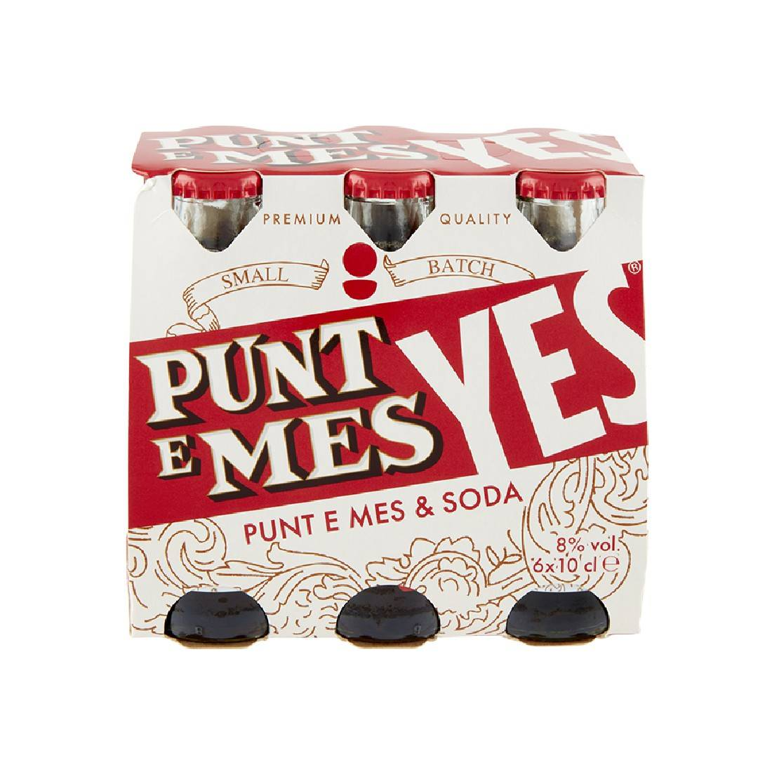 Punt & Mes Yes Vermouth e Soda Ready to Drink [6 bottiglie da 0.10 lt]