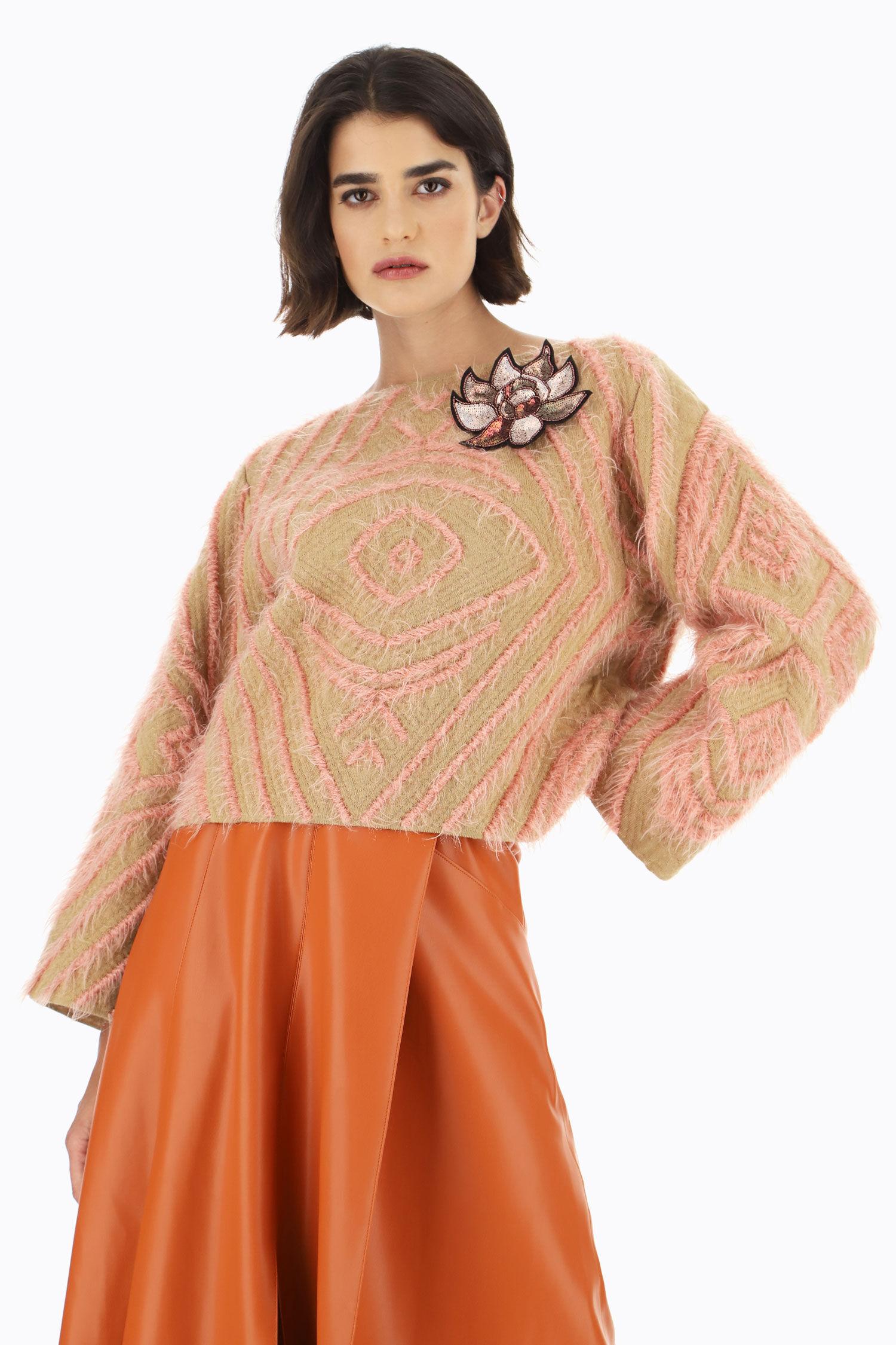 Dixie Pullover oversize in misto lana