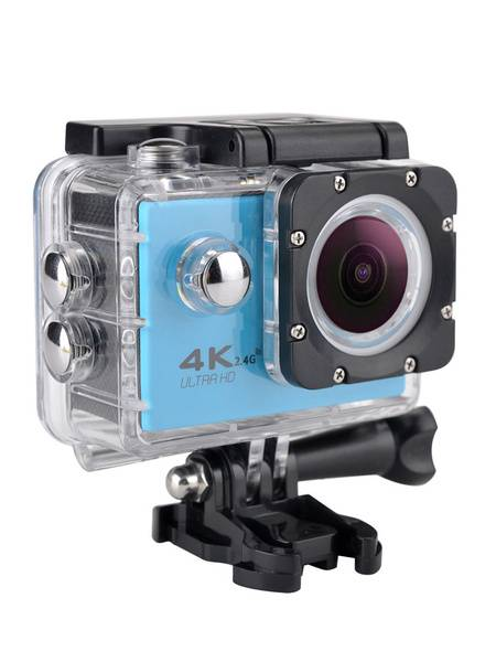 Adult Action Camera di plastica fuori gialla Alloggiamento impermeabile 900mAh 12MP 4K 1-3 ore 2 32GB Autofocus