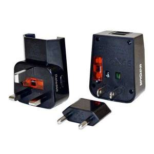 Intova Universal Adapter Usb Charger One Size Black