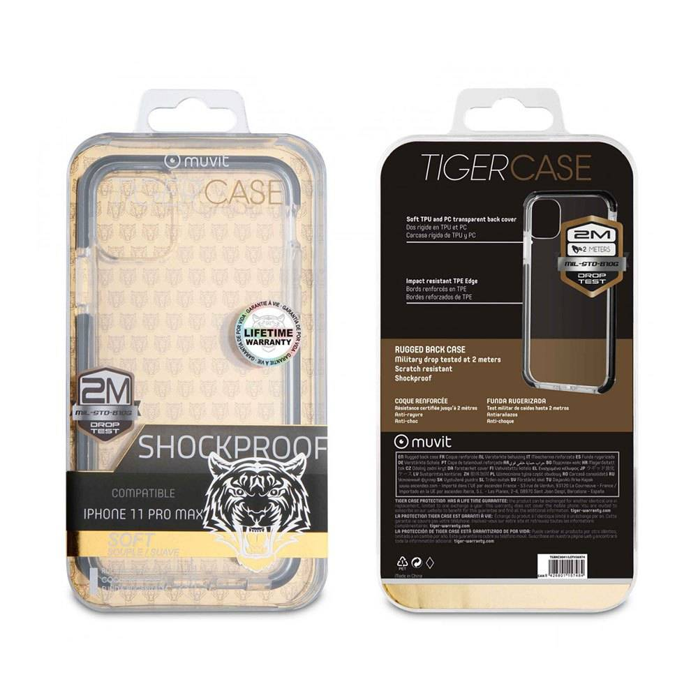 Muvit Soft Case Shockproof 2m Iphone 11 Pro Max One Size Clear