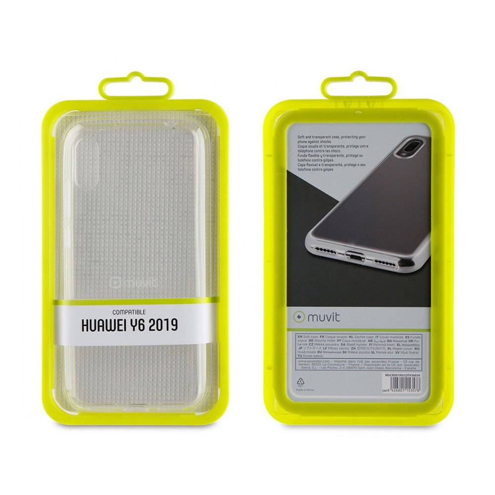 Muvit Cristal Soft Case Huawei Y6 2019 One Size Clear