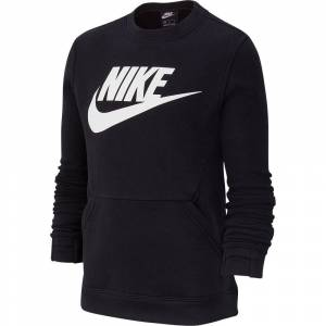 Nike Felpe Nike Sportswear Club Crew Hbr S Black / White