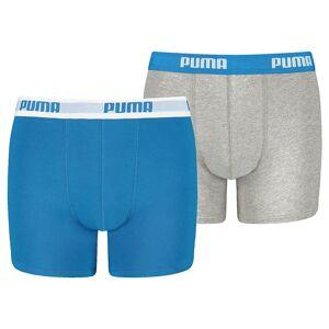 Puma Intimo Puma Basic Boxer 2 Packs 152 cm Blue / Grey