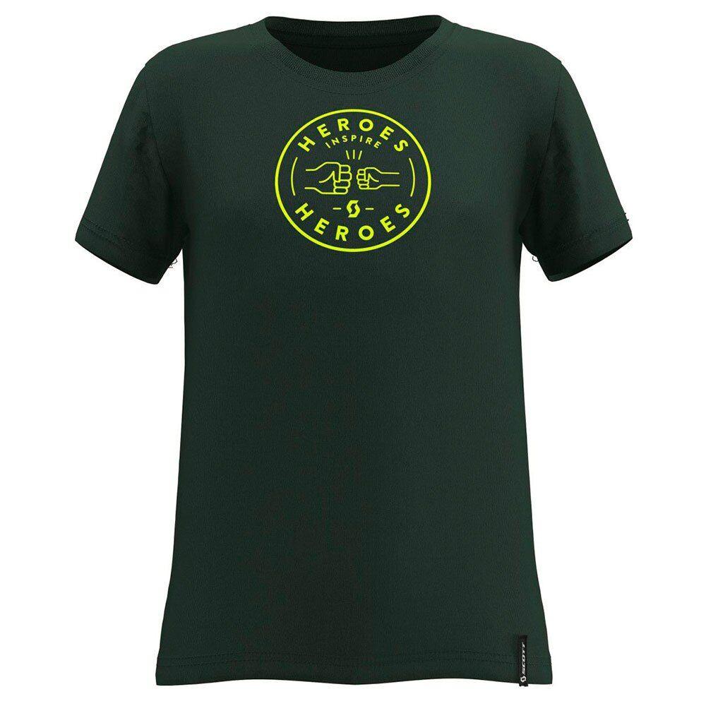 Scott Maglietta Manica Corta 10 Casual 128 cm Smoked Green