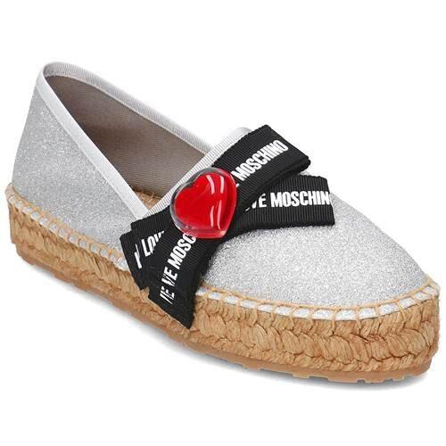 Moschino Love Moschino Bow Love Universal Shoes EU 37 Silver,Beige