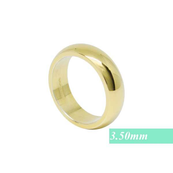 Infinity of London Fede Nuziale Classica 3.50mm In Oro Giallo 18ct Wd001