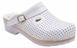 Scholl Clog S/comf.B/s Ce Bycast Bis Unisex White Woods Bianco 40