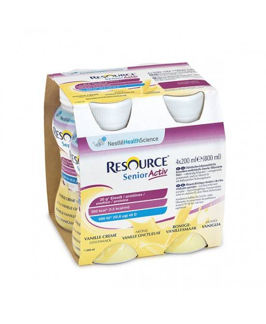 Nestle' It.Spa(Healthcare Nu.) Resource Senior Active Gusto Vaniglia 4x200ml