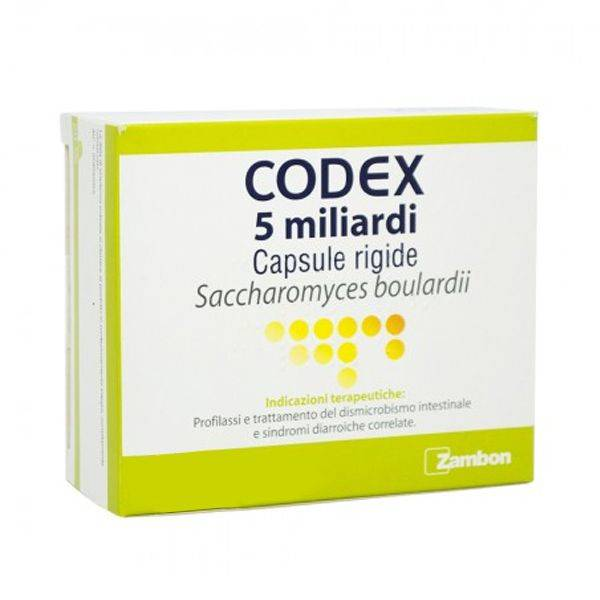 Zambon Codex 30 Capsule 5 Miliardi 250 Mg