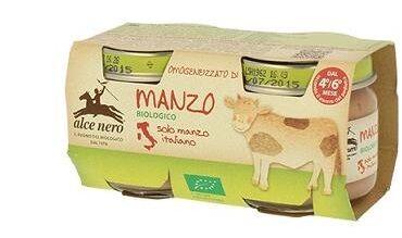 Alce Nero Spa Omogeneizzato Di Manzo Baby Food Bio 2 X 80 G