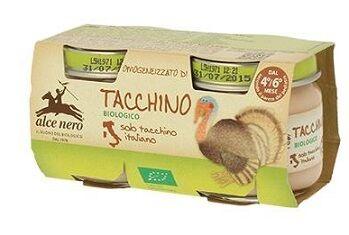Alce Nero Spa Omogeneizzato Di Tacchino Baby Food Bio 2 X 80 G