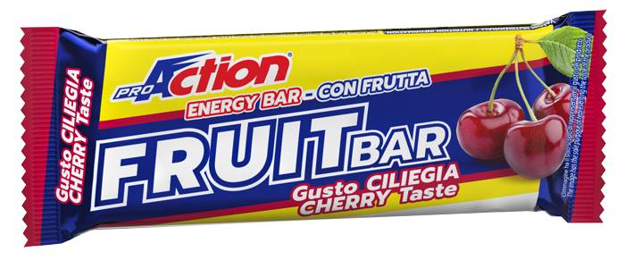 proaction fruit bar endurance barretta energetica alla ciliegia 40 g scadenza 30/06/2021