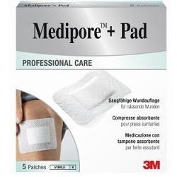 3M Medicazione Medipore+pad 10x20cm 5pezzi