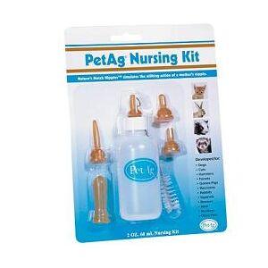 Chifa Srl Nursing Kit Biberon Da 60ml Per Animali + Tettarelle Varie Misure + Scovolino Per Pulizia