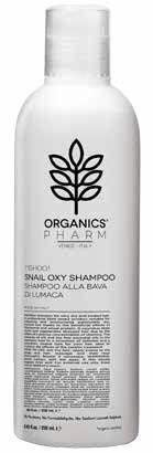sma srl organics pharm shampoo snail oxy  shampoo idratante capelli molto secchi 250 ml