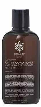 sma srl organics pharm fortify conditioner neem oil and millet maschera fortificante capelli  250 ml
