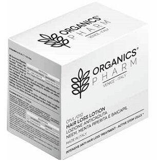sma srl organics pharm hair loss lotion neem oil, peppermint and baicapil 12 fiale da 6 ml
