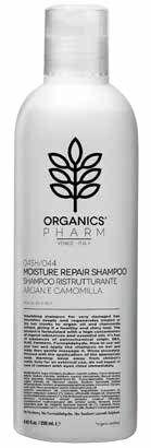 sma srl organics pharm  shampoo  nutritivo ristrutturante olio di argan e camomilla 250 ml