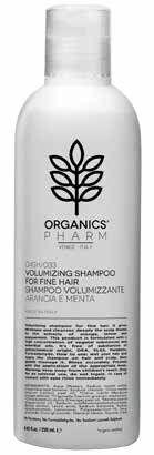 sma srl organics pharm volumizing shampoo volumizzante capelli sottili con estratti di arancia limone e menta 250 ml