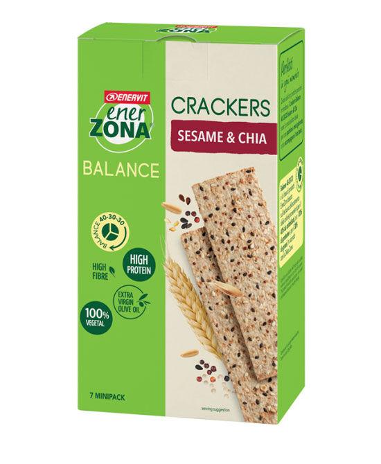 Enervit Spa Enerzona Crackers Sesamo E Chia 175 Grammi