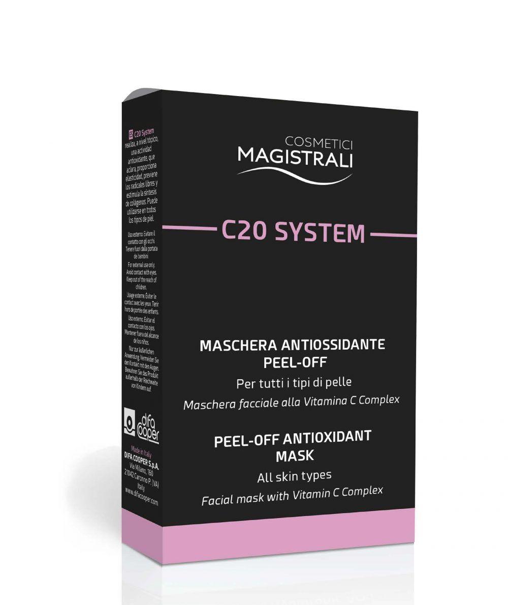 difa cooper spa cosmetici magistrali c20 system box maschera facciale 5 bustine