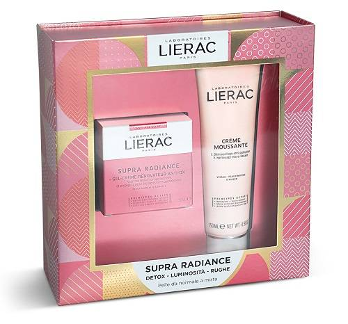 Lierac (Ales Groupe It. Spa) Cofanetto Di Natale Lierac Supra Radiance Gel Crema 50 Ml + Mousse Struccante 150 Ml Idea Regalo