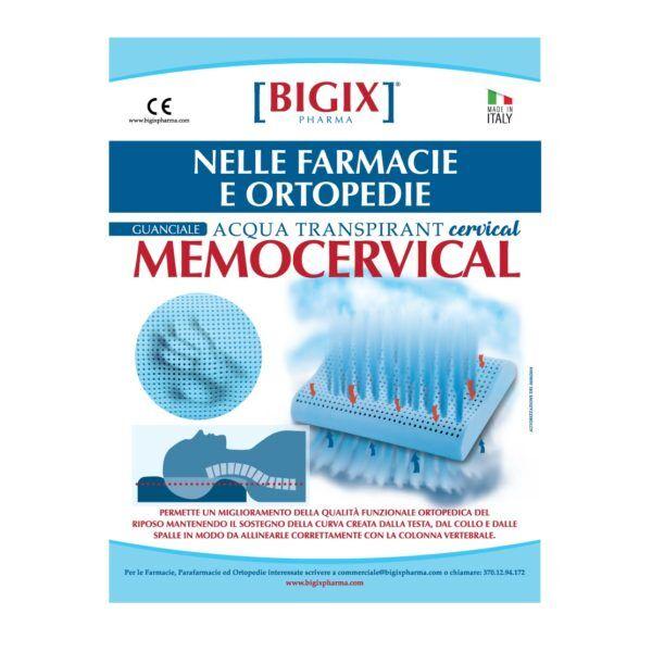 bigix pharma srl bigix pharma guanciale memocervical cuscino anatomico acqua traspirant