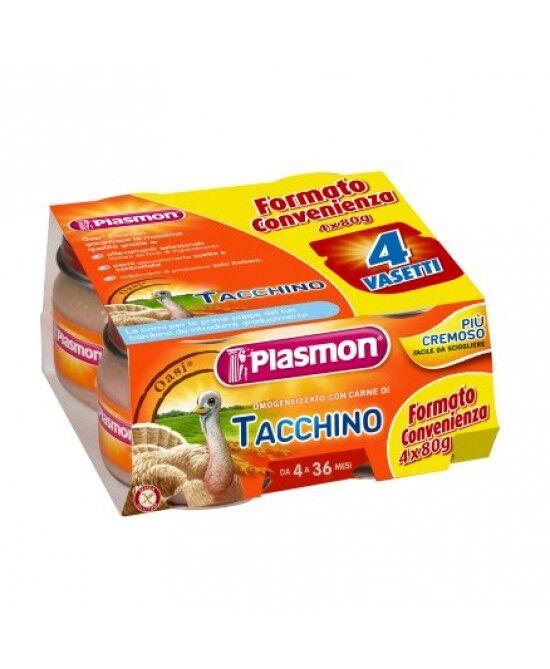 Plasmon (Heinz Italia Spa) Plasmon Omogeneizzato Di Carne Tacchino 4x80g